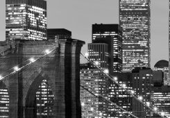 Manhattan Skyline B/W