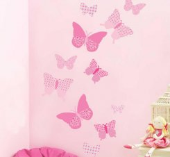 Pink Collection Butterflies