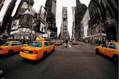 Fototapet (315x232 cm) New York Taxi cabs
