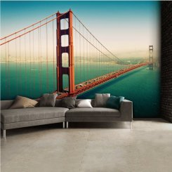 Fototapet med Golden gate bron i San Francisco