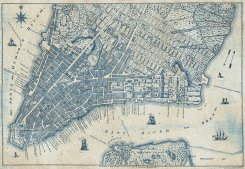 Old Vintage City Map New York