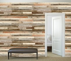Wooden Wall Shade Of Red