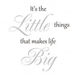 It´s the Little things that makes life Big