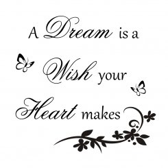 Väggtext A dream is a wish your heart makes