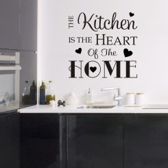 Väggtext The Kitchen is the Heart of the Home