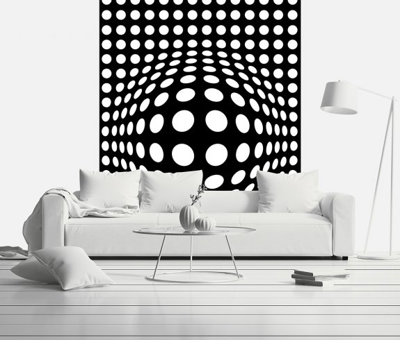 Dots Black And White Inverted