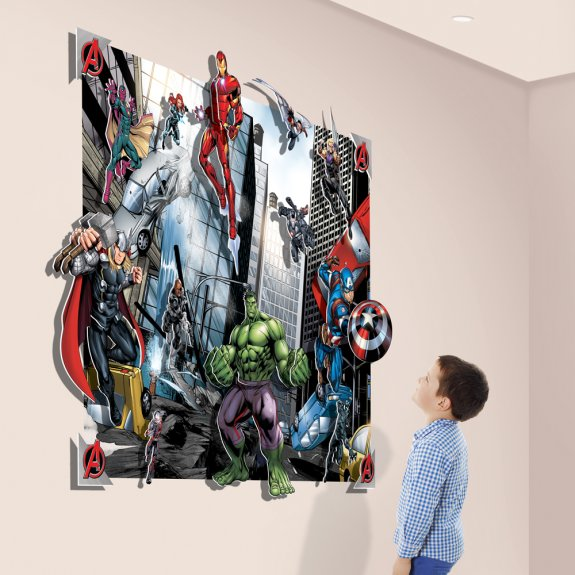 3D pop out Avengers från Walltastic