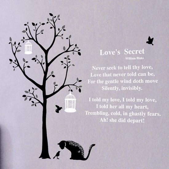 William Blake Love Quotes: Träd Och Dikten Love's Secret
