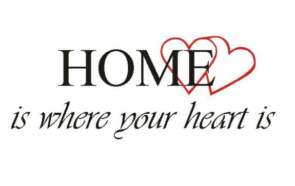 Väggtext - HOME is where your heart is