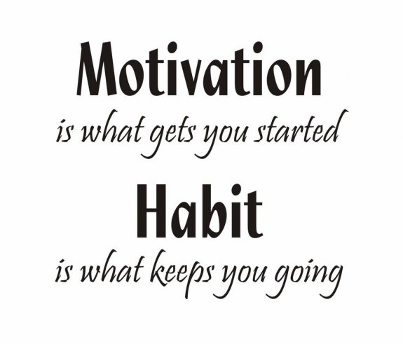 Stor Väggtext - Motivation is what gets you started