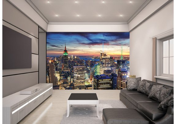 The View fototapet med utsikt över New York Skyline som 3D-tapet