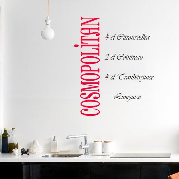 Väggdekor Köket : Väggord väggtext väggdekor väggdekoration drink cosmopilitan
