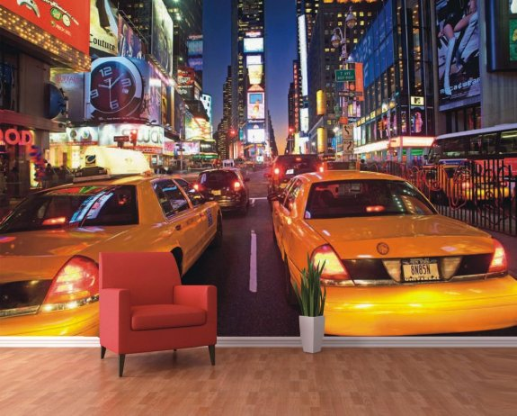 Fototapet (360x253 cm) New York Taxi cabs