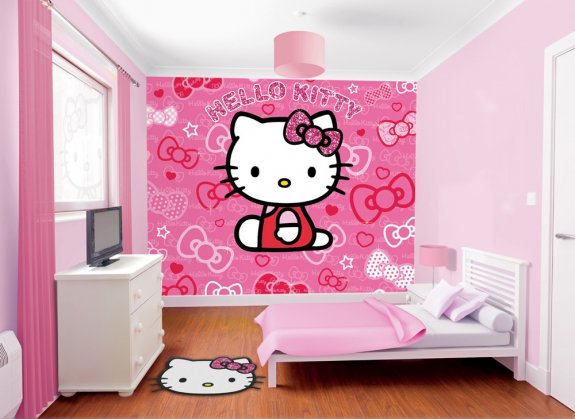 Barntapet med Hello Kitty