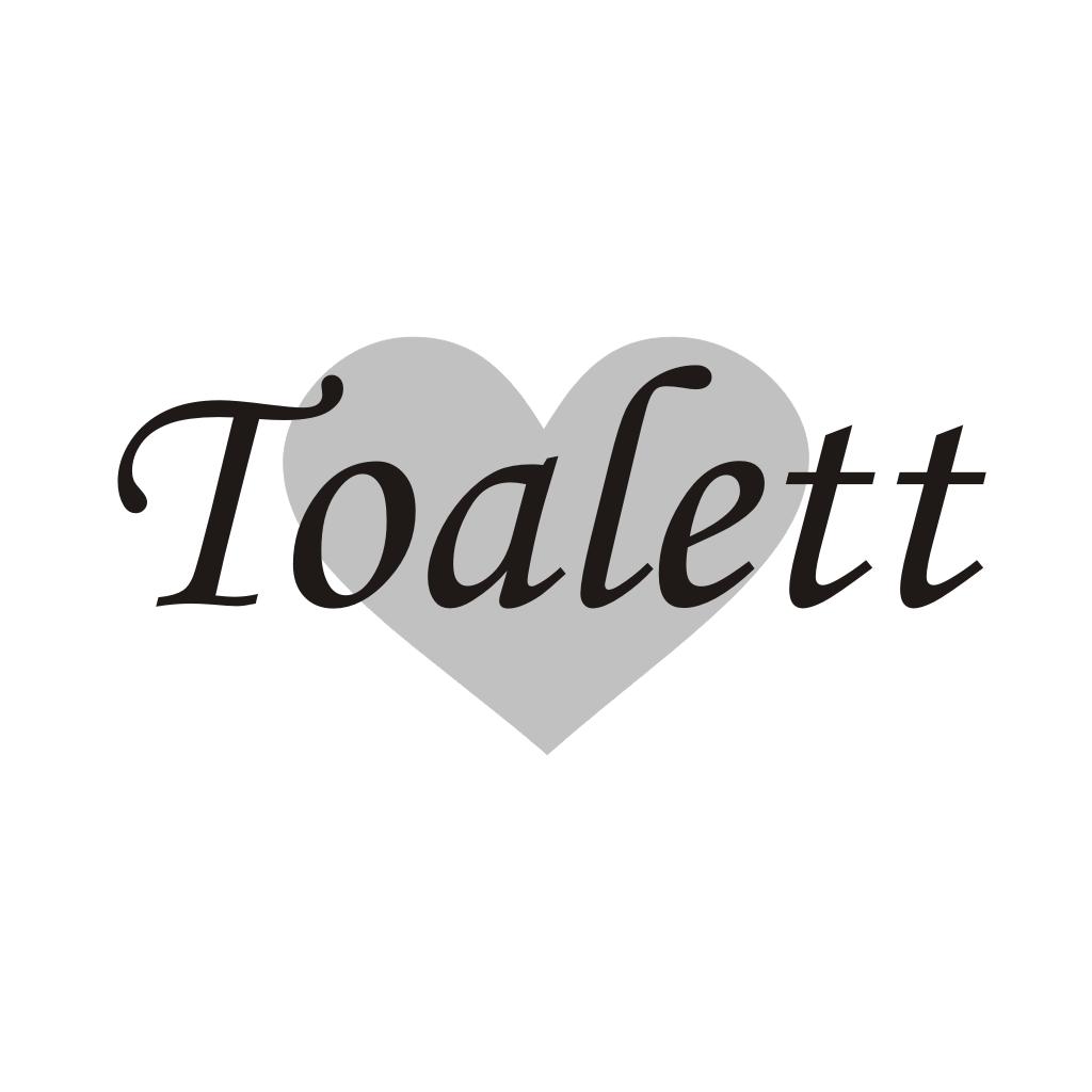 Toalett med hjärta Badrummet Unikdekor se