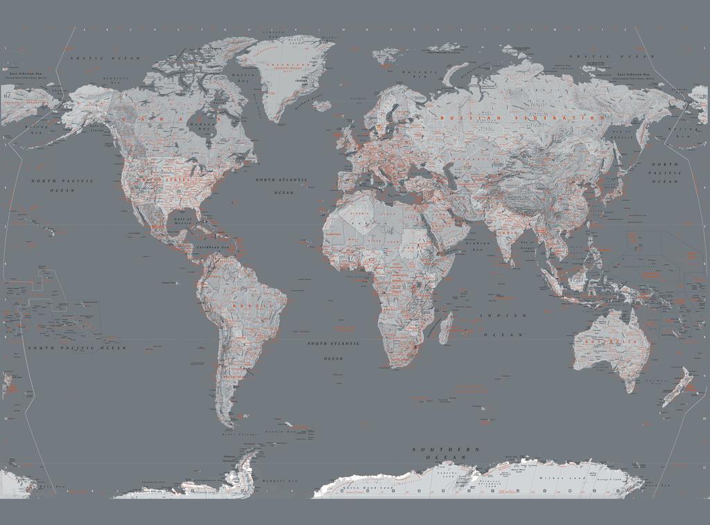 V rldskarta silver map - Mundo del papel pintado ...